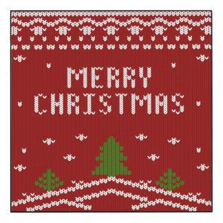 Felices Navidad, haciendo punto, modelo, verde, Impresión En Madera