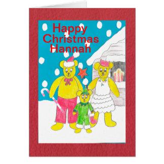 Felices Navidad Hannah Tarjeta De Felicitación