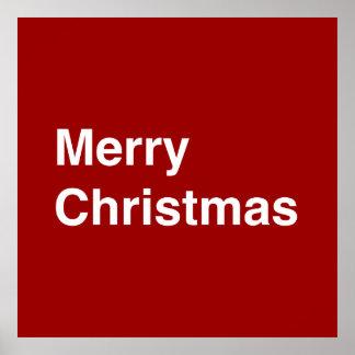 Felices Navidad Helvéticas Poster