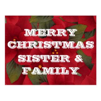 Felices Navidad hermana, postal de la familia