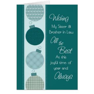 Felices Navidad hermana y tarjeta del cuñado