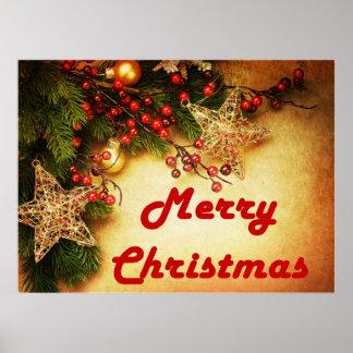 Felices Navidad hermosas Póster