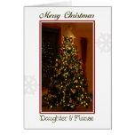 Felices Navidad hija y prometido Tarjeta