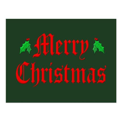 Felices Navidad - Hollies Tarjeta Postal