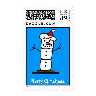 Felices Navidad - hombre de la nieve de Smores Sellos