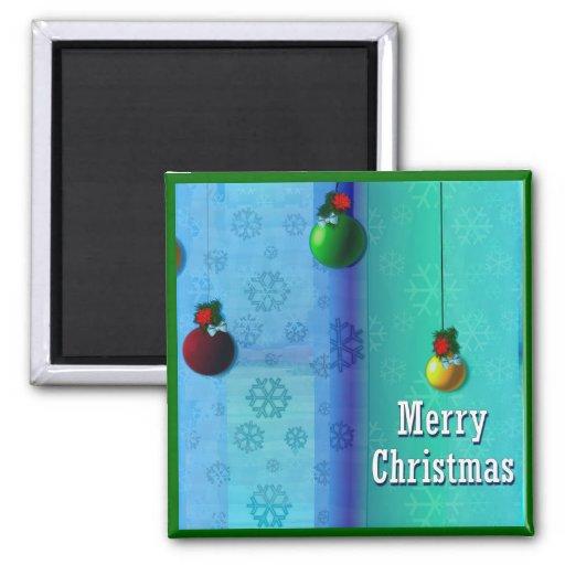 Felices Navidad Imán Cuadrado