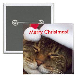 ¡Felices Navidad! Imán del gatito Pin
