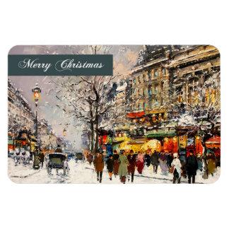 Felices Navidad. Imán del regalo del navidad de la