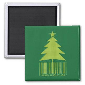 Felices Navidad - imán verde del árbol de navidad