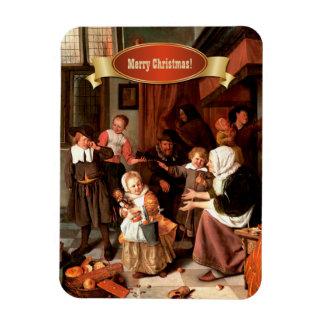 Felices Navidad. Imanes del regalo del navidad de