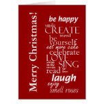 Felices Navidad inspiradas del motivtional Felicitación
