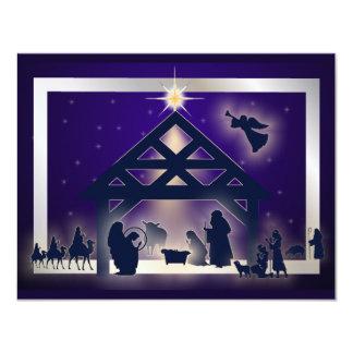 """Felices Navidad Invitación 4.25"""" X 5.5"""""""