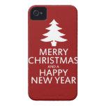 Felices Navidad iPhone 4 Carcasas