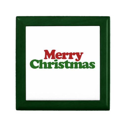 Felices Navidad Joyero Cuadrado Pequeño
