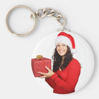 ¡Felices Navidad! Llavero Redondo Tipo Pin