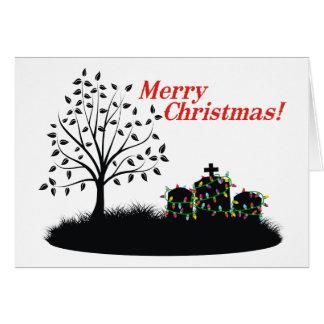 ¡Felices Navidad!  - Luces del cementerio Tarjeta De Felicitación