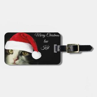 Felices Navidad Luv Kat Etiquetas Para Maletas