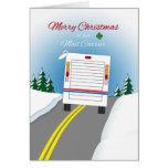 Felices Navidad Mailtruck para el cartero Tarjeta De Felicitación