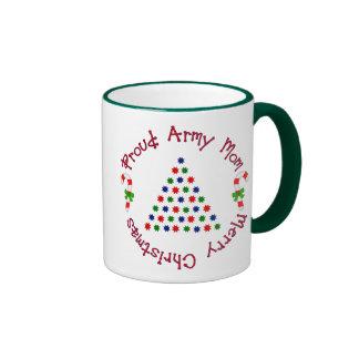 Felices Navidad (mamá del ejército) Taza A Dos Colores