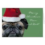 Felices Navidad mamá y tarjeta greeeting del barro