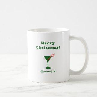 Felices Navidad Martini con el bastón de caramelo Tazas