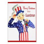 Felices Navidad militares a una tarjeta del soldad