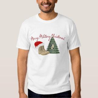 Felices Navidad militares Polera