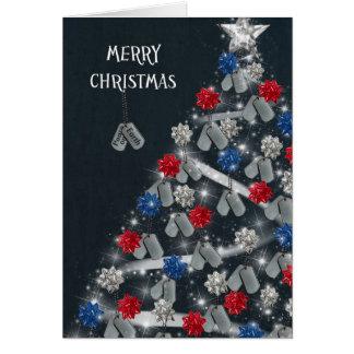 Felices Navidad militares Tarjetón