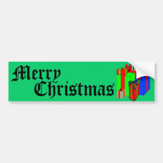 ¡Felices Navidad! ¡Modifiqúeme para requisitos par Etiqueta De Parachoque