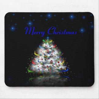Felices Navidad Mousepad del árbol de navidad