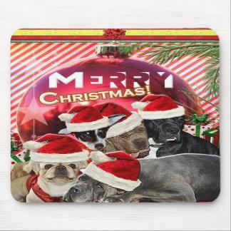 Felices Navidad Mousepad (edición del perro) Alfombrilla De Raton