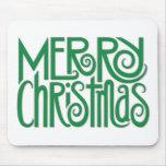Felices Navidad Mousepad verde Tapete De Ratones