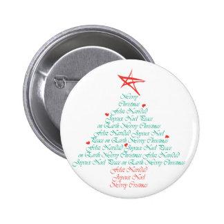 ¡Felices Navidad multilingües! Pin