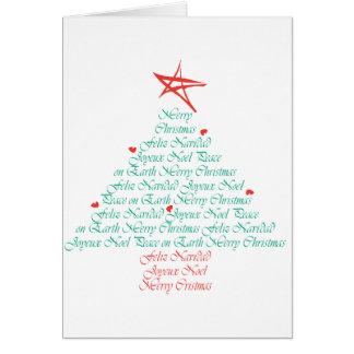 ¡Felices Navidad multilingües! Tarjeta De Felicitación
