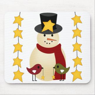 Felices Navidad muñeco de nieve y regalos de las e Tapete De Raton