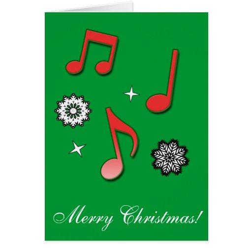 Felices Navidad música y alegría Felicitaciones