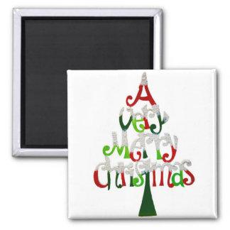 Felices Navidad muy Imán Cuadrado