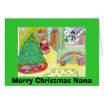Felices Navidad Nana Tarjetas