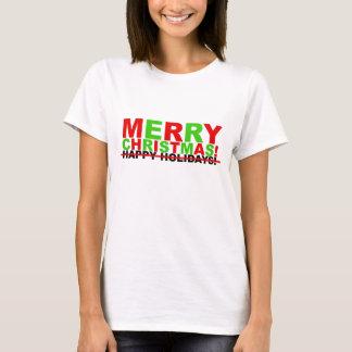 ¡Felices Navidad! (no buenas fiestas) Playera