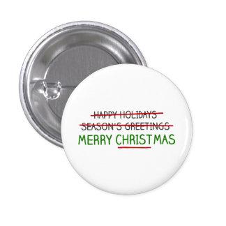 Felices Navidad, no los saludos de la estación Pin Redondo De 1 Pulgada