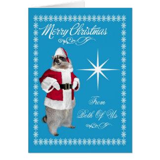 Felices Navidad nosotros dos tarjeta de felicitaci