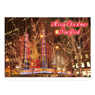 Felices Navidad Nueva York Tarjeta Postal