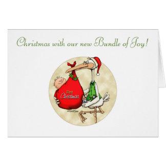 Felices Navidad - nuevo bebé Tarjeta De Felicitación