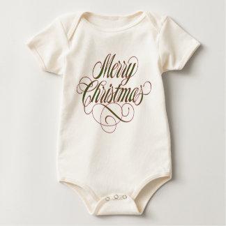 ¡Felices Navidad! Orgánico adorable Body Para Bebé
