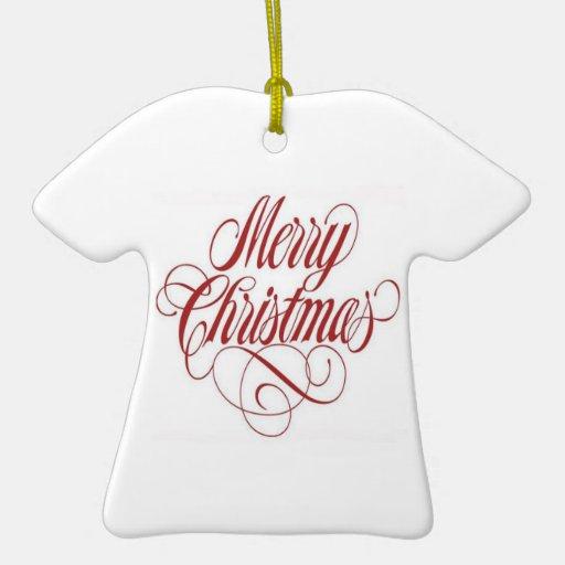 ¡Felices Navidad! Ornamento de encargo de la camis Adornos