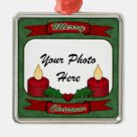 ¡Felices Navidad! Ornamento de encargo de la foto Ornatos