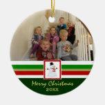 Felices Navidad: Ornamento de la imagen Adorno Redondo De Cerámica