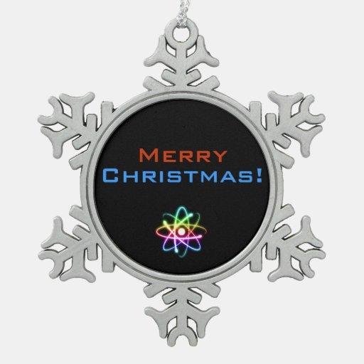 ¡Felices Navidad! - Ornamento del navidad del átom Adorno