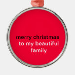 Felices Navidad Ornamento Para Arbol De Navidad