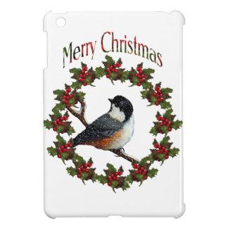 Felices Navidad Pájaro guirnalda arte original